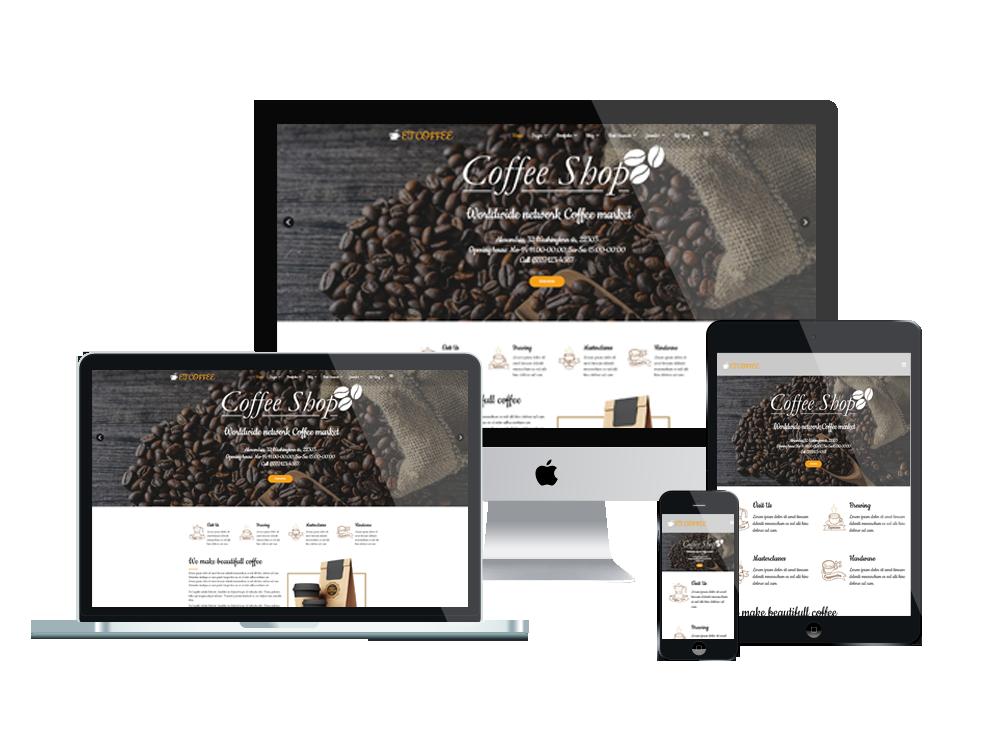 Joomla Template: ET Coffee – Free Responsive Coffee Website Templates