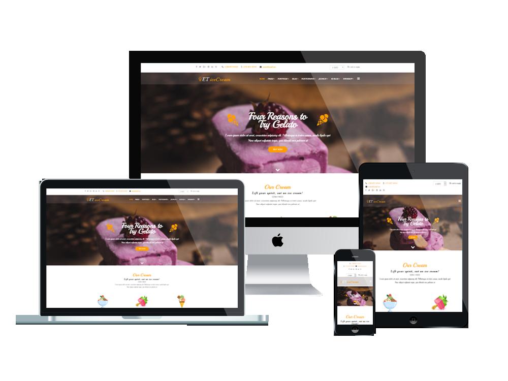 Joomla Template: ET IceCream – Free Responsive Ice Cream Joomla! template