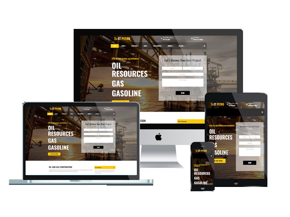 Joomla Template: ET Petro – Free Responsive Joomla Petroleum Website template