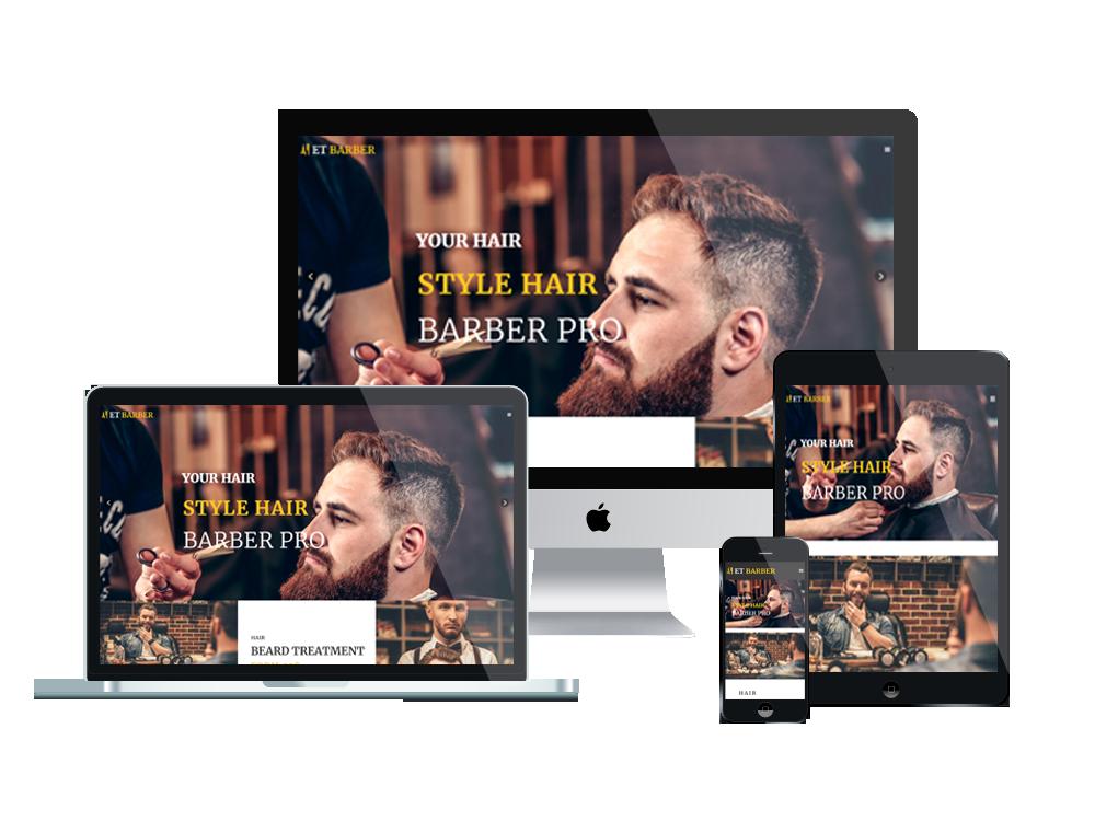 Joomla Template: ET Barber – Free Responsive Barber Website Template