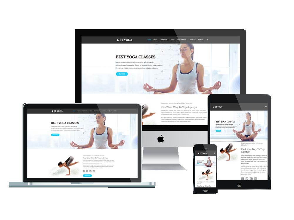Joomla Template: ET Yoga – Free Responsive Yoga Joomla! template