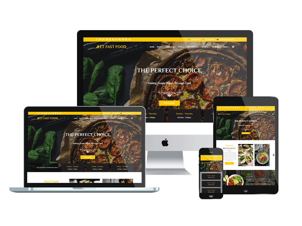 Joomla Template: ET Fast Food – Free Responsive Joomla Restaurant Template
