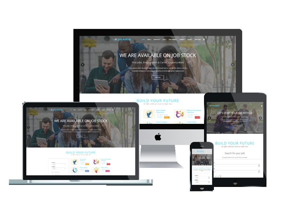 Joomla Template: ET Job Portal – Free Responsive Job Portal Website Templates