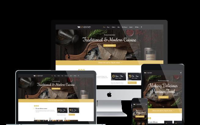 Joomla Template: ET Rustro – Free Responsive Bars / Cafe / Restaurants Joomla! Templates