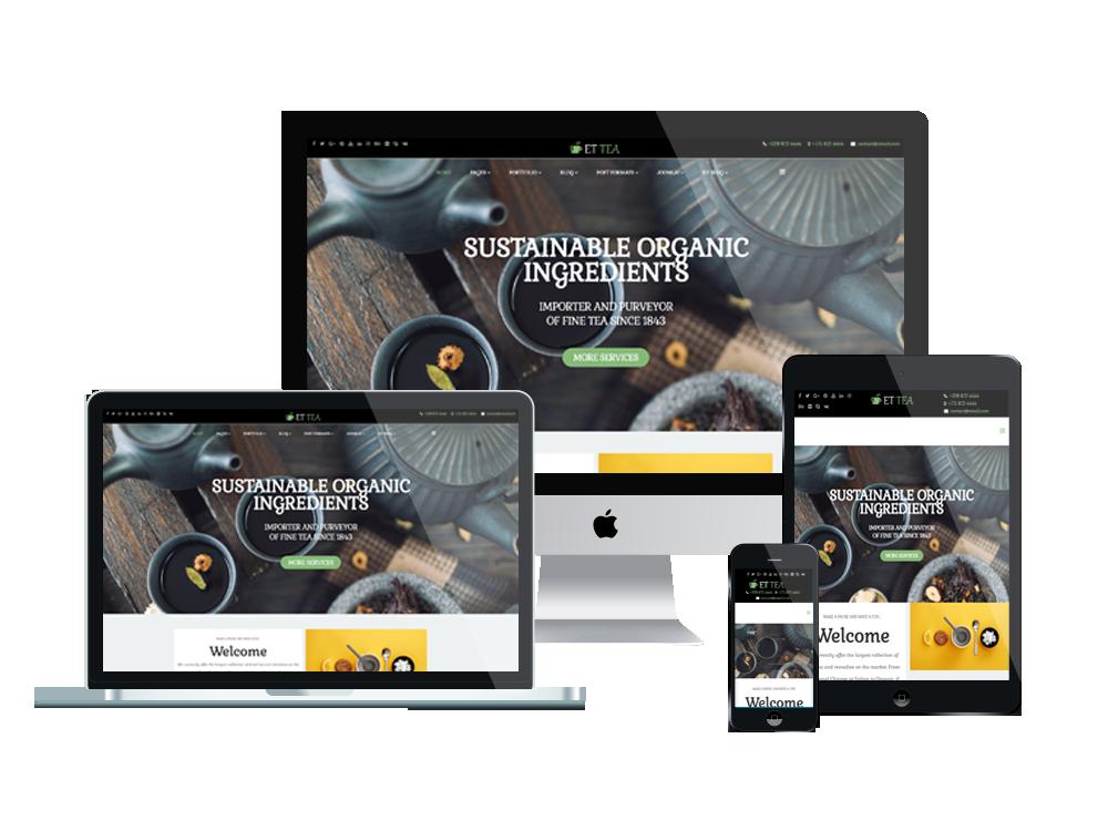 Joomla Template: ET Tea – Free Responsive Tea Company Website Template