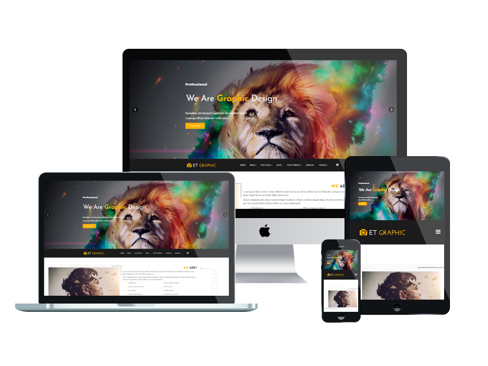 Joomla Template: ET Graphic – Free Responsive Joomla Graphic Design Template
