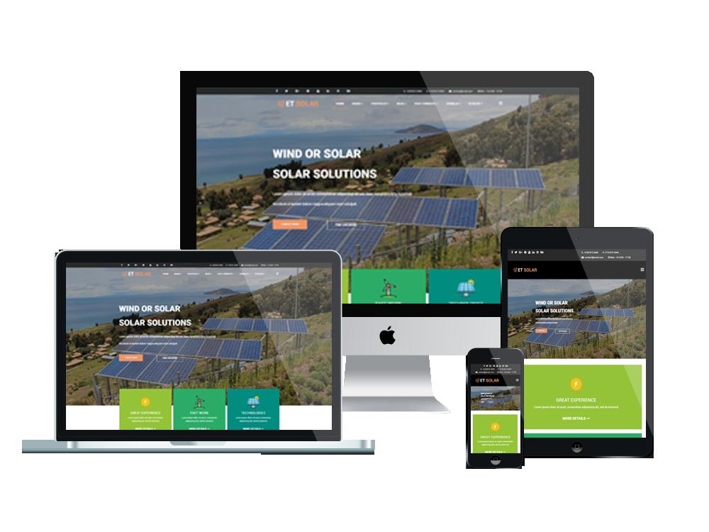 Joomla Template: ET Solar – Free Responsive Joomla Solar Energy templates