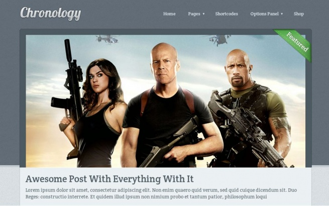 Wordpress Theme: Chronology