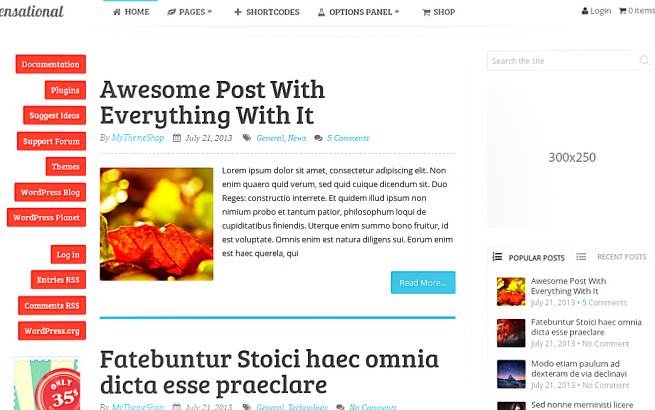 Wordpress Theme: Sensational