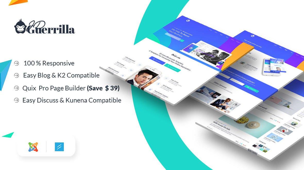 Joomla Template: JD Guerrilla - Digital Marketing Agency Joomla Template