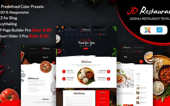 Joomla Template: JD Restaurant - Joomla Restaurant Template