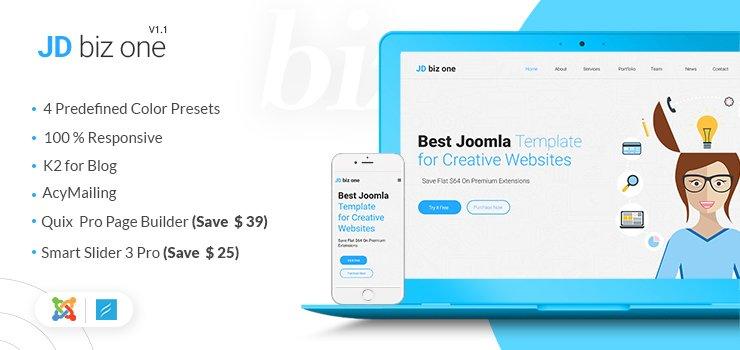 Joomla Template: JD Biz One Free