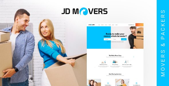Joomla Template: JD Movers – Joomla Template for Packers and Movers