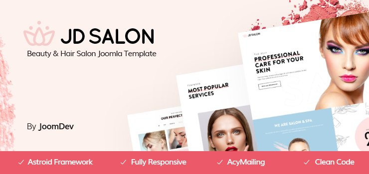 Joomla Template: JD Salon - Joomla Template for Beauty, Spa & Hair Salon