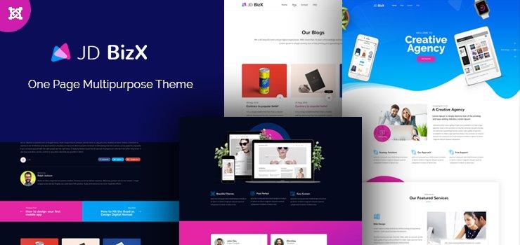 Joomla Template: JD BizX - One Page Business Joomla Template