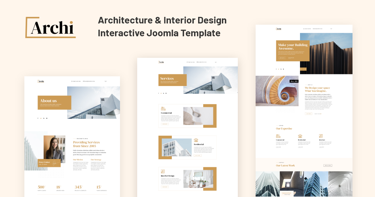 Joomla Template: JD Archi - Architecture & Interior Design Template