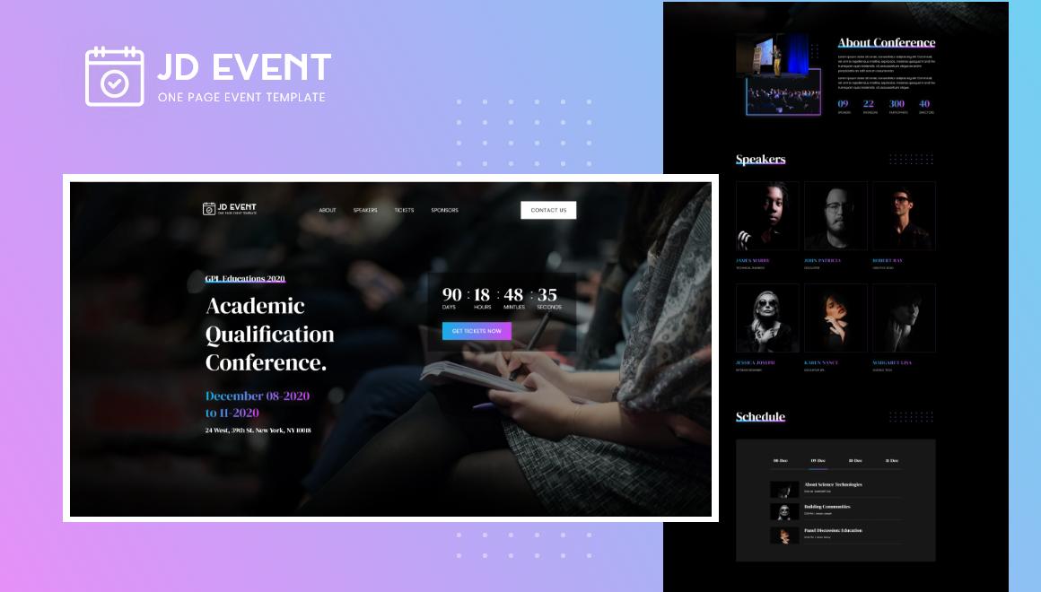 Joomla Template: JD Event - Responsive Event Website Joomla Template