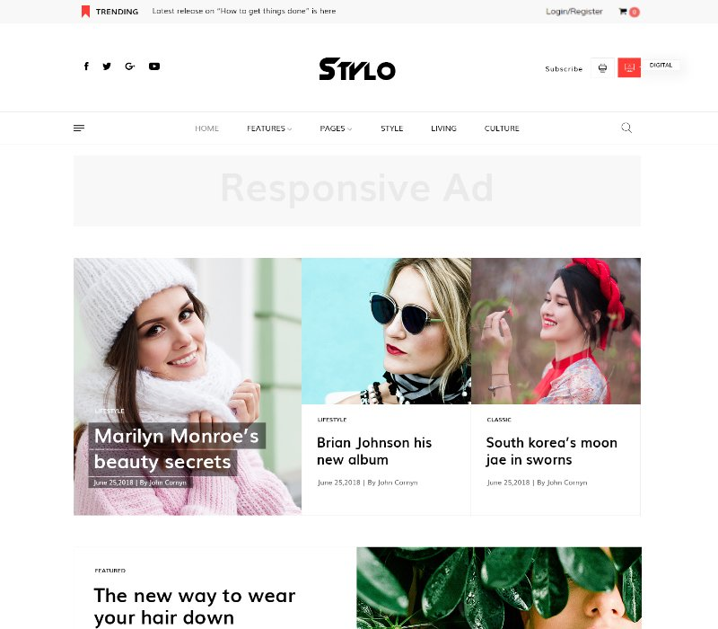 Joomla Template: JD Stylo - Fashion Blog & Magazine Joomla Template