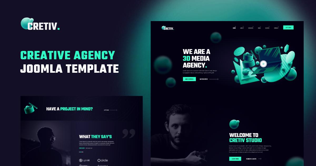 Joomla Template: JD Cretiv - Creative Agency Joomla Template