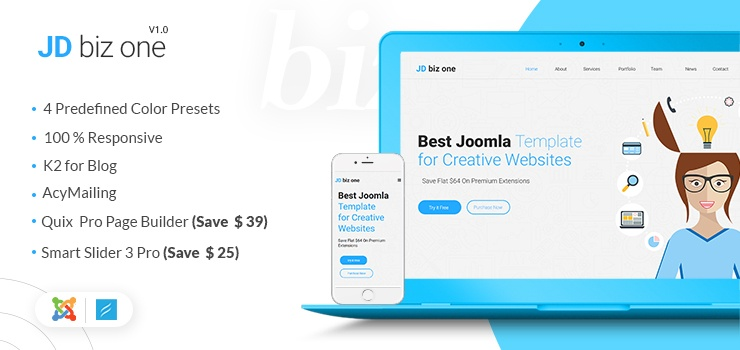 Joomla Template: JD Biz One Free