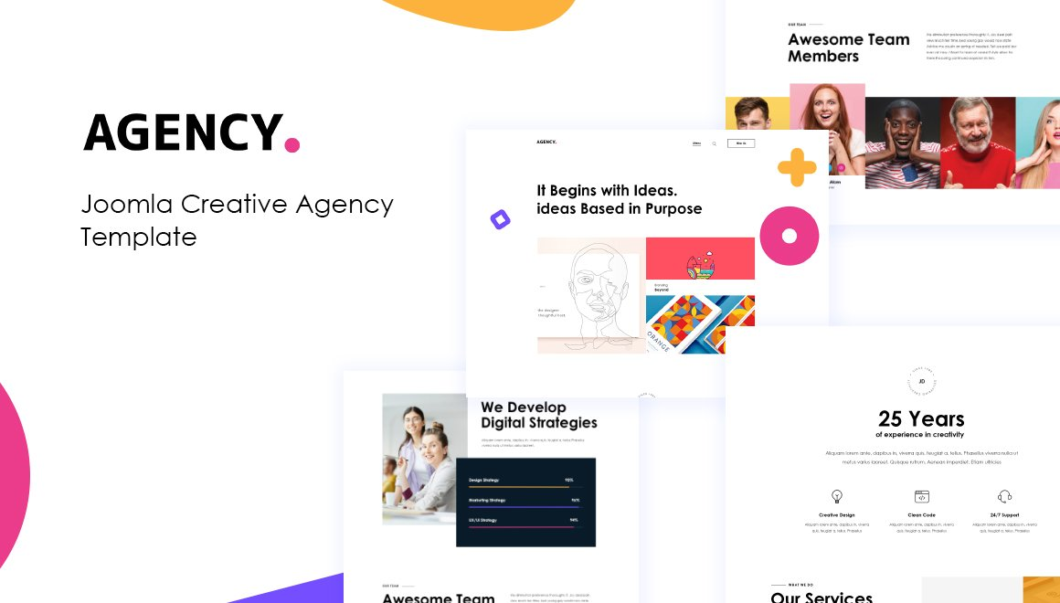 Joomla Template: JD Agency - Creative Agency Joomla Template