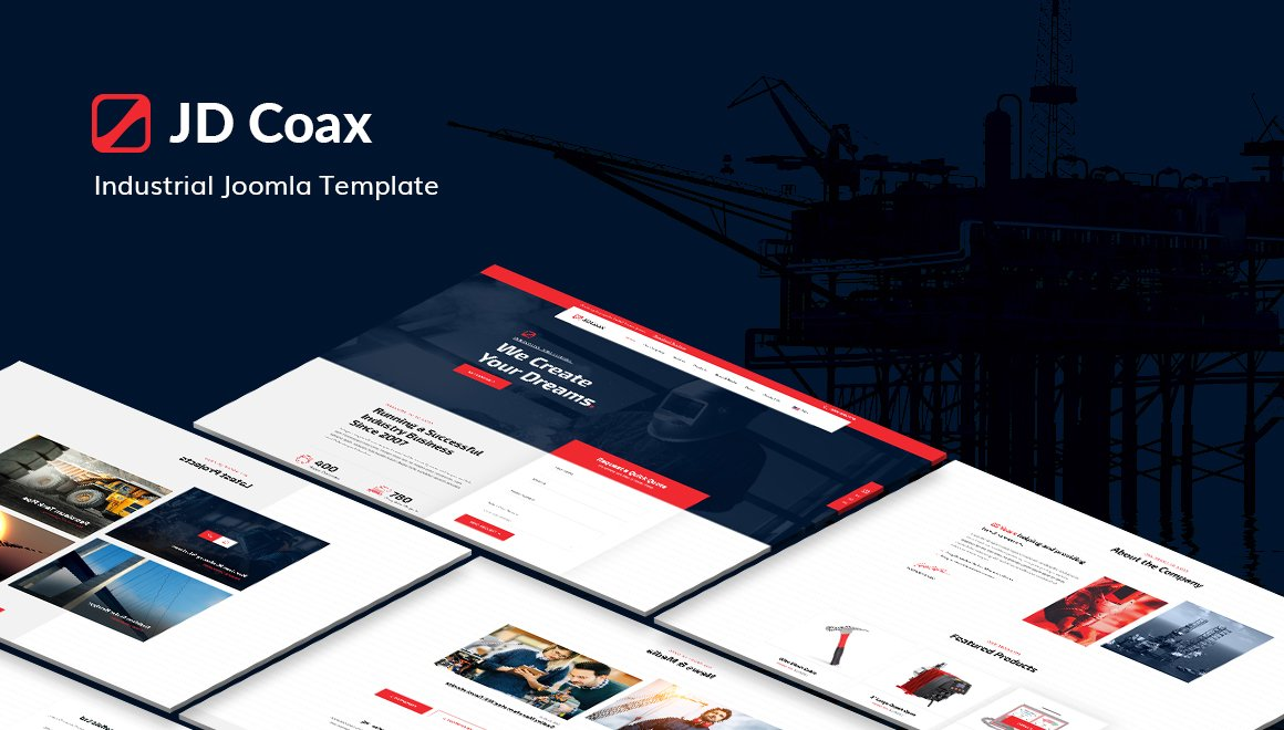 Joomla Template: JD Coax - Industrial Joomla Template With Catalog Shop Integration