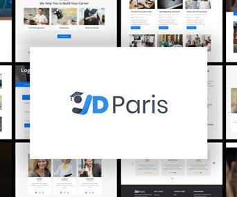 Joomla Template: JD Paris - Free School Joomla Template