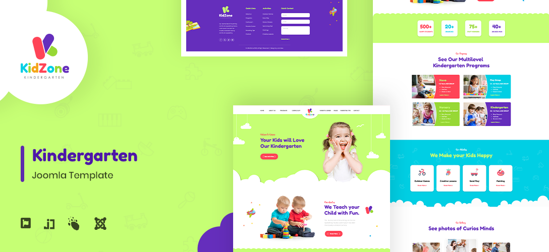 Joomla Template: JD KidZone - Kindergarten & Pre-school Joomla Template