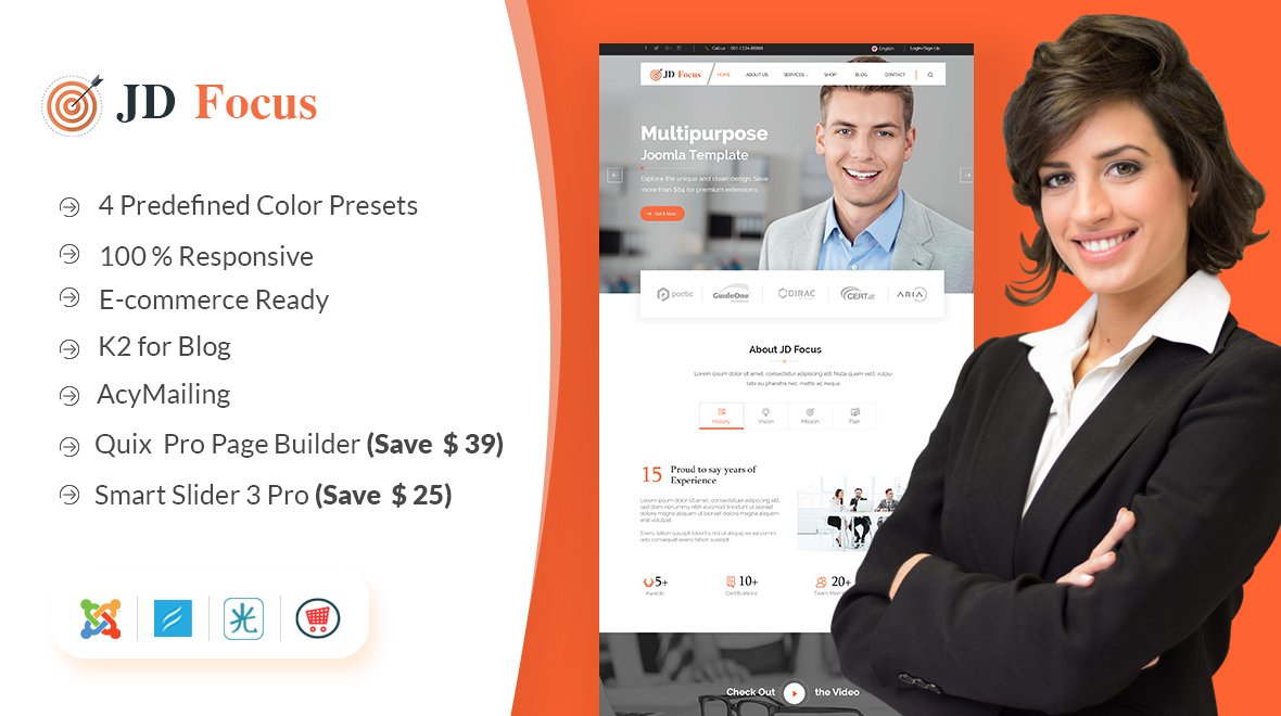 Joomla Template: JD Focus Multipurpose Joomla Template
