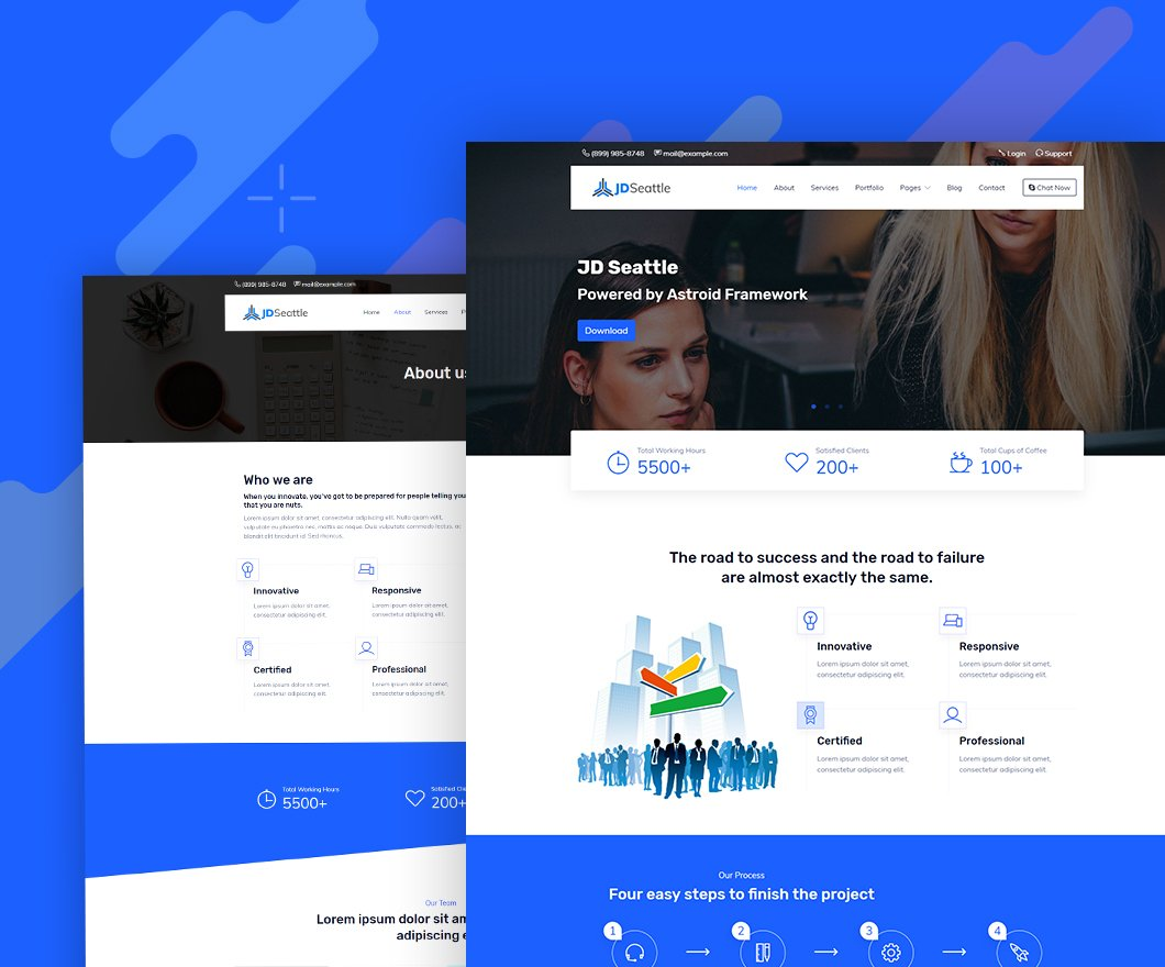 Joomla Template: JD Seattle - Free Multipurpose Business Joomla Template