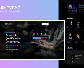 Joomla Templates: JD Event - Responsive Event Website Joomla Template