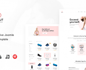 Joomla Templates: JD YogaHut - Responsive Joomla Yoga Template With Online Shop