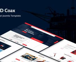 Joomla Free Template - JD Coax - Industrial Joomla Template With Catalog Shop Integration