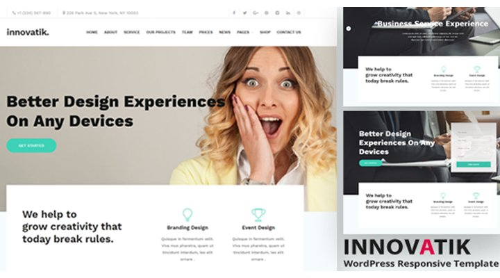 Wordpress Theme: Innovatik - Corporate WordPress Theme