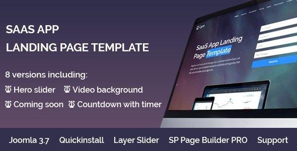 Joomla Template: Lyra - SaaS App Landing Page Multipurpose Joomla Template with page builder
