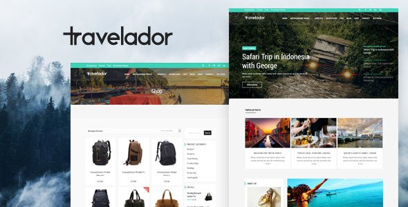 Wordpress Theme: Travelador - WordPress Blog & Shop Theme