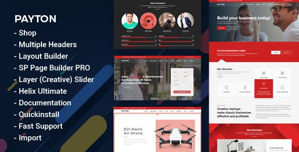 Joomla Template: Payton - Multipurpose Business Responsive Joomla Template