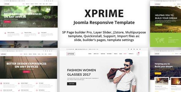 Joomla Template: XPRIME - Multipurpose Joomla Template with Page Builder