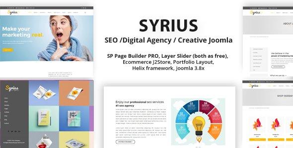 Joomla Template: Syrius - SEO /Digital Agency / Creative Joomla Theme