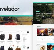 Wordpress Premium Theme - Travelador - WordPress Blog & Shop Theme