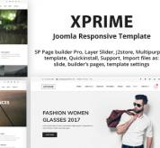 Joomla Premium Template - XPRIME - Multipurpose Joomla Template with Page Builder