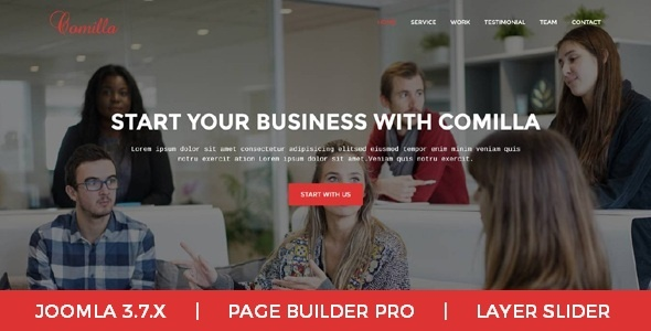 Joomla Template: Comilla - Digital Agency One Page Business Joomla Theme