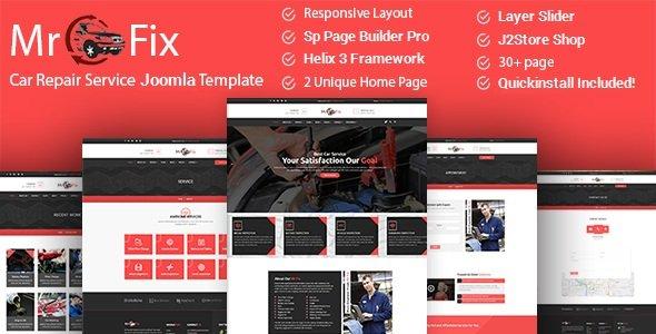 Joomla Template: Mr Fix - Car Repair Service Business Joomla Theme With Page Builder