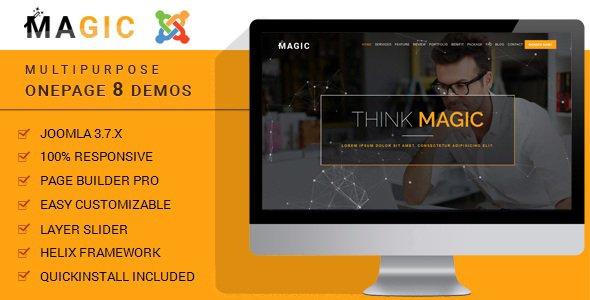 Joomla Template: Magic - Multipurpose Onepage Joomla Theme With Page Builder