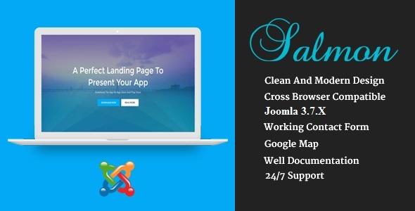 Joomla Template: Salmon - One Page App Landing Business Joomla Theme