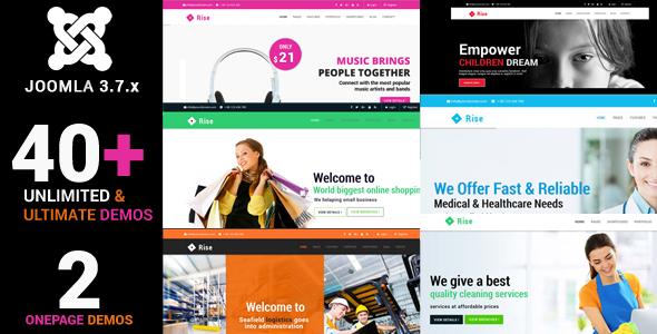 Joomla Template: Rise - Responsive Multi-Purpose Creative Joomla Theme