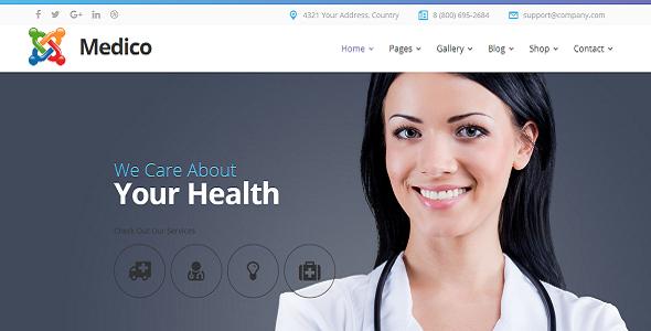 Joomla Template: Medico - Medical&Veterinary Multipurpose Business Joomla Theme