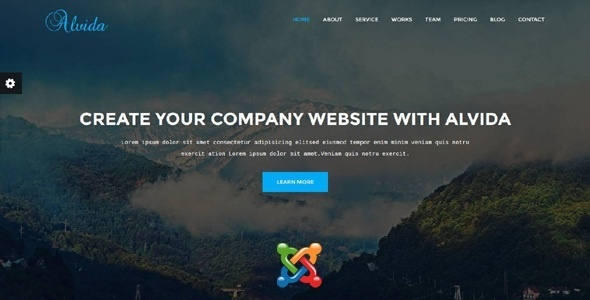 Joomla Template: Alvida - One Page Business Joomla Theme