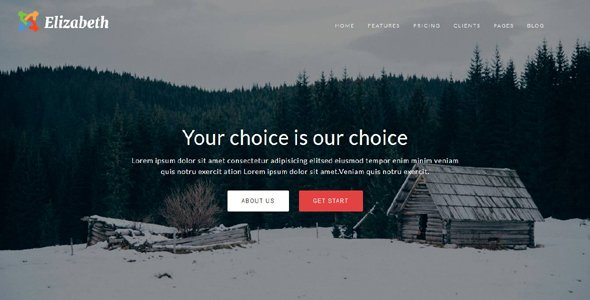 Joomla Template: Elizabeth - One Page Corporate Theme With Page Builder
