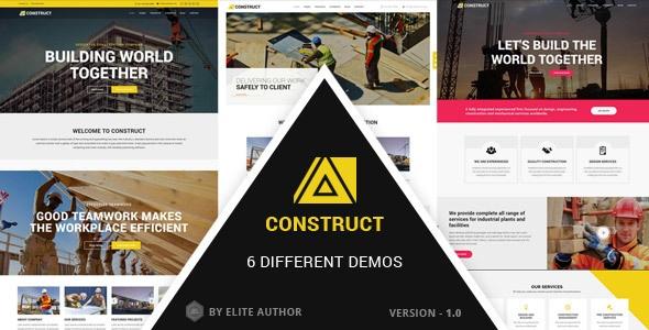 Joomla Template: Construct - Construction, Building Multipurpose Company Theme